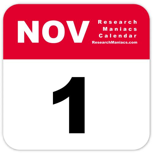 November 1st Calendar