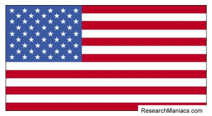 How many rows of stars on the American flag?