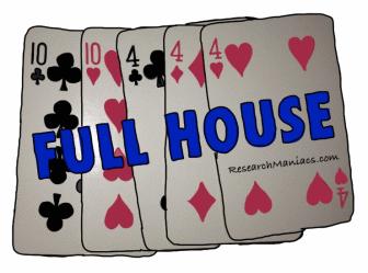 full house or straight win in poker