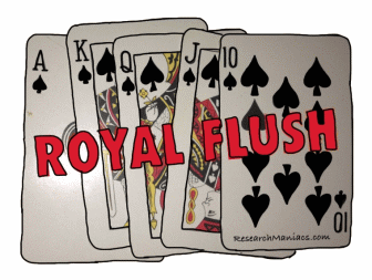 royal straight flush odds