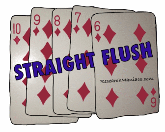 Odds of getting a royal flush in poker