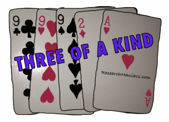 odds of 3 of a kind in poker
