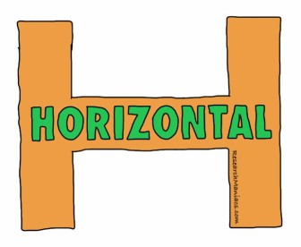 which way is horizontal