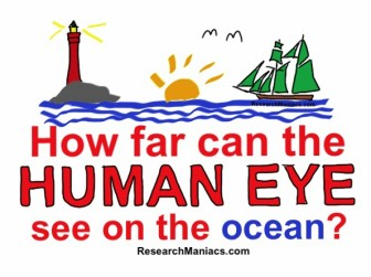 How far can the human eye see on the ocean?