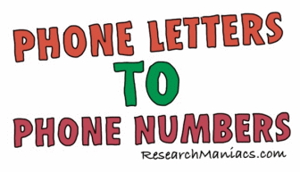 convert phone letters into phone numbers