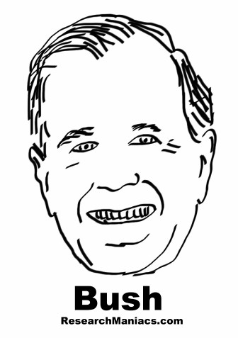 president george h w bush facts information and trivia