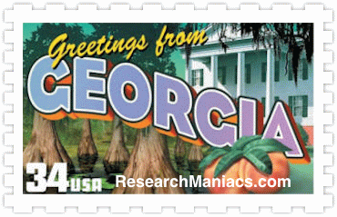 Greetings From Georgia Stamp