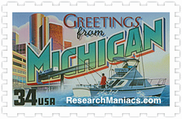 Greetings from michigan stamp m4hsunfo