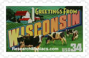 Greetings From Wisconsin Stamp