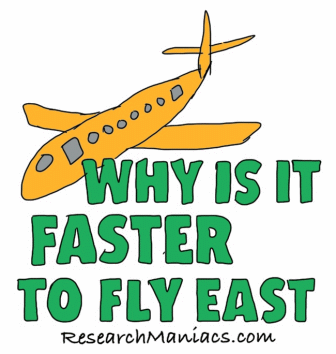 Why is it faster to fly east?
