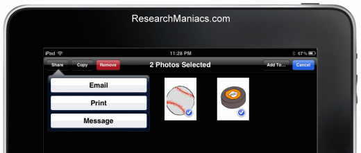 how to send multiple photos in an email from ipad